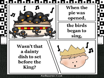 Sing a Song of Sixpence - Comic Strip Nursery Rhyme Story Telling - PPT Edition