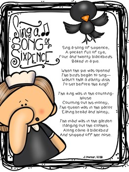 Sing a Song of Sixpence Nursery Rhyme Investigation
