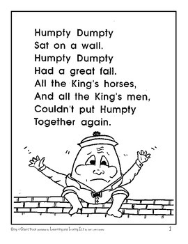 """Sing and Chant Book"" - Familiar Songs and Poems to Develop Reading Fluency"