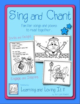 """Sing and Chant Book"" Familiar Songs and Poems to Develop"