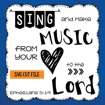 Sing and Make Music Banner SVG PNG Silhouette Cricut Cut Files