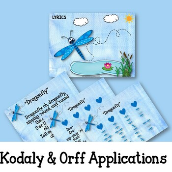 """Music Lesson:""""Dragonfly"""" with Kodaly, Orff,  Ukulele and Guitar Lessons"""
