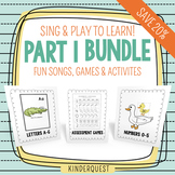 Sing and Play to Learn Bundle 1: Letters A-G, Numbers 0-5 & Assessment