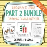 Kindergarten Sing & Play to Learn Bundle 2 Letters H-N, Nu