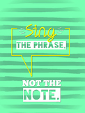 Sing the Phrase Choir Poster
