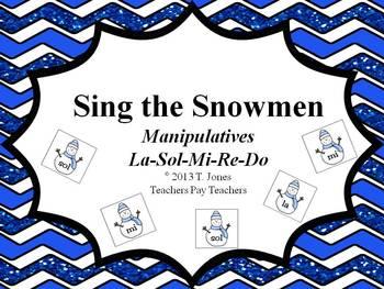 Sing the Snowmen - Manipulatives (La-Sol-Mi-Re-Do)