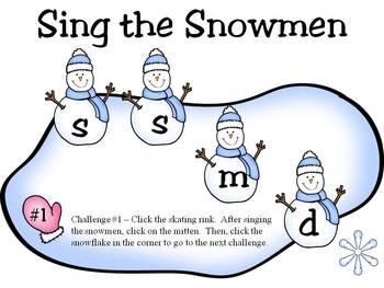 Sing the Snowmen - Solfege Singing - la-sol-mi-do edition