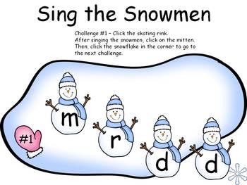 Sing the Snowmen - Penatonic Edition - Solfege Singing
