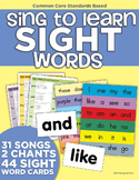 Sing to Learn Sight Word Songs (Music & Lyrics)
