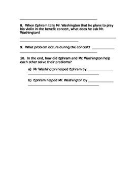 Sing to the Stars Comprehension Questions Houghton Mifflin