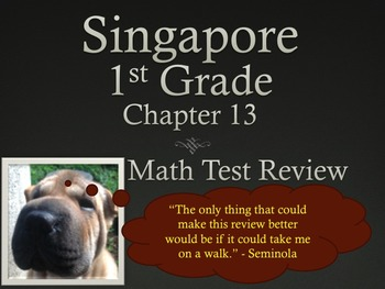 Singapore 1st Grade Chapter 13 Test Review (5 pages)