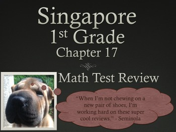 Singapore 1st Grade Chapter 17 Math Test Review (5 pages)