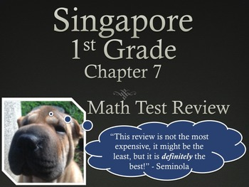 Singapore 1st Grade Chapter 7 Math Test Review (5 pages)