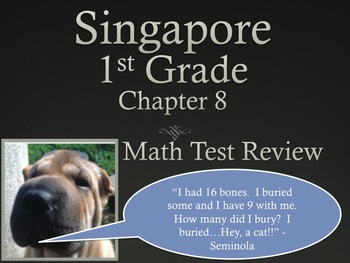 Singapore 1st Grade Chapter 8 Math Test Review (6 pages)