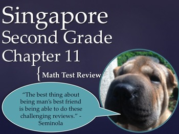 Singapore 2nd Grade Chapter 11 Math Test Review (8 pages)