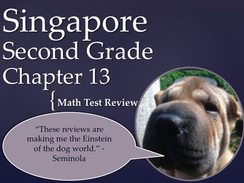 Singapore 2nd Grade Chapter 13 Math Test Review (8 pages)