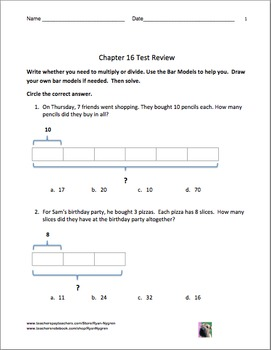 Singapore 2nd Grade Chapter 16 Math Test Review (15 Pages)