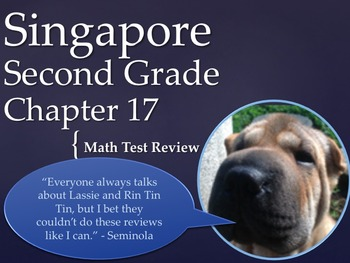 Singapore 2nd Grade Chapter 17 Math Test Review (7 pages)