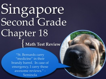 Singapore 2nd Grade Chapter 18 Math Test Review (5 pages)