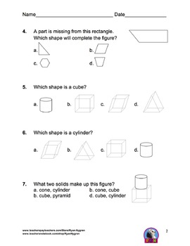 Singapore 2nd Grade Chapter 19 Math Test Review (7 pages)