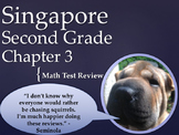 Singapore 2nd Grade Chapter 3 Math Test Review (5 pages)