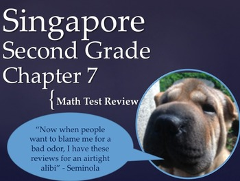 Singapore 2nd Grade Chapter 7 Math Test Review (8 pages)