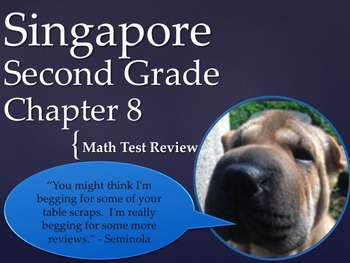 Singapore 2nd Grade Chapter 8 Math Test Review (10 pages)