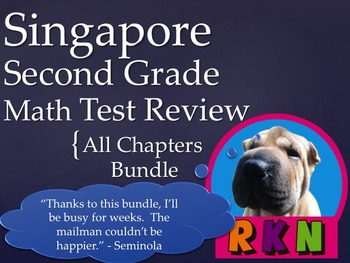 Singapore 2nd Grade Math Test Reviews Bundle