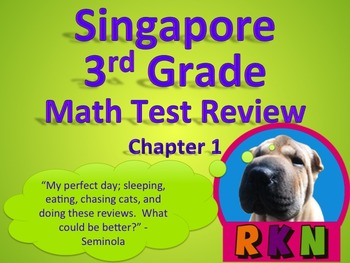 Singapore 3rd Grade Chapter 1 Math Test Review (6 pages)