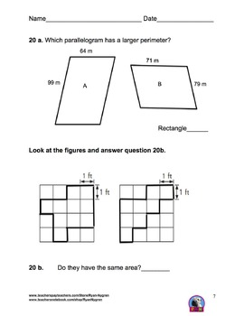 Singapore 3rd Grade Chapter 19 test review (9 pages)