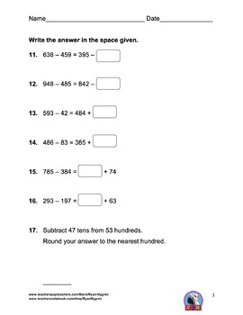 Singapore 3rd Grade Chapter 2 Test Review (5 pages)