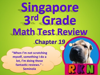 Singapore 3rd Grade Math Test Reviews Bundle