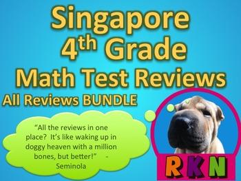 Singapore 4th Grade Math Test Reviews Bundle