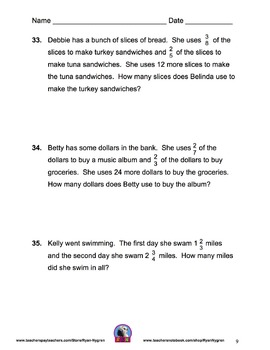 Singapore 5th Grade Benchmark Assessment 1 Math Test Review (13 pages)