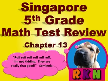 Singapore 5th Grade Chapter 13 Math Test Review (12 pages)
