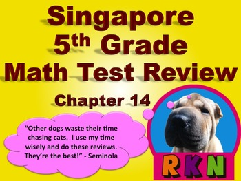 Singapore 5th Grade Chapter 14 Math Test Review (10 Pages)