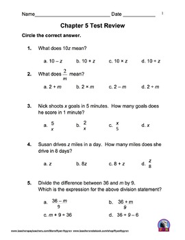 Clever image pertaining to 5th grade math practice test printable