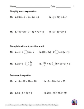 Singapore 5th Grade Chapter 5 Math Test Review (6 pages)