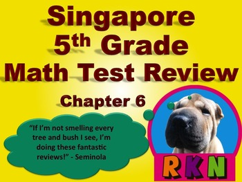 Singapore 5th Grade Chapter 6 Math Test Review (10 pages)