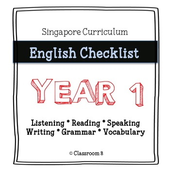 Singapore English Curriculum Checklist - Year 1