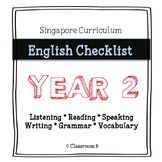 Singapore English Curriculum Checklist - Year 2