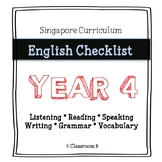 Singapore English Curriculum Checklist - Year 4