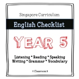 Singapore English Curriculum Checklist - Year 5