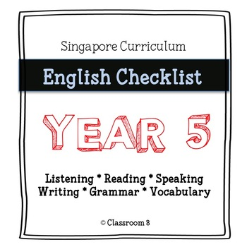 Singapore English Curriculum Checklist - Year 5