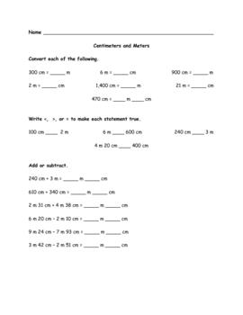 Singapore Math 3B Length/ Conversion Worksheets