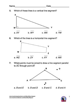 Singapore 4th Grade Chapter 10 Math Test Review (8 pages)