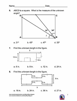 Singapore 4th Grade Chapter 11 Math Test Review (11 pages)