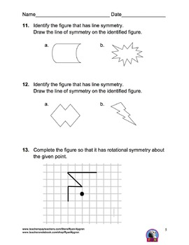 Singapore 4th Grade Chapter 13 Math Test Review (9 pages)