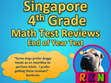 Singapore 4th Grade End of Year Test Review (15 pages)