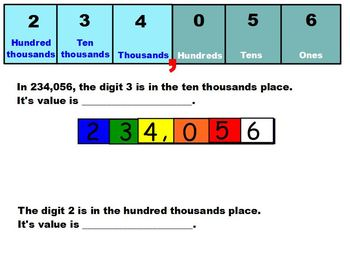Singapore Math 5th Grade:  5A Unit 1 Whole Numbers, Chapter 1 Place Values